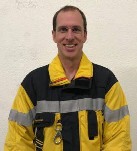 """Der Chef Ausbildung der Feuerwehr Engstringen """"Daniel Aerne""""."""